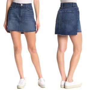 Frame Denim Le Mini Raw Stagger Edge Miniskirt